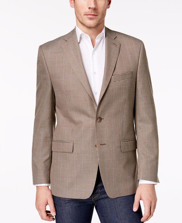 Lauren Ralph Lauren - Men's Classic-Fit Ultraflex Gray Multi-Tic Weave Sport Coat