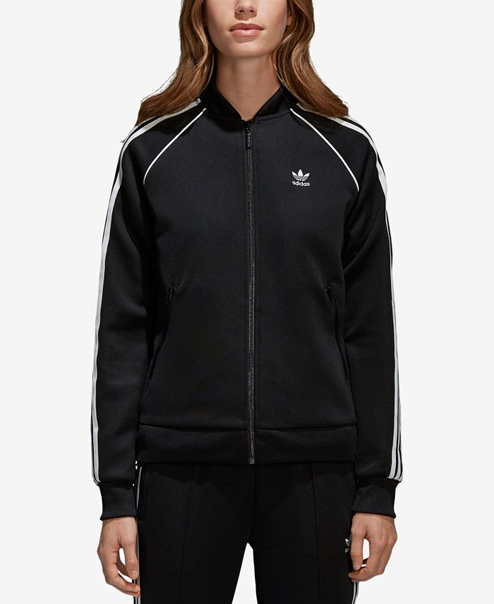 entrar Tigre Efectivamente  adidas Women's Adicolor Superstar 3-Stripe Track Jacket & Reviews - Women -  Macy's
