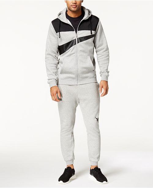 Nike Men's Zip Logo Hoodie & Logo Sweatpants & Reviews ...