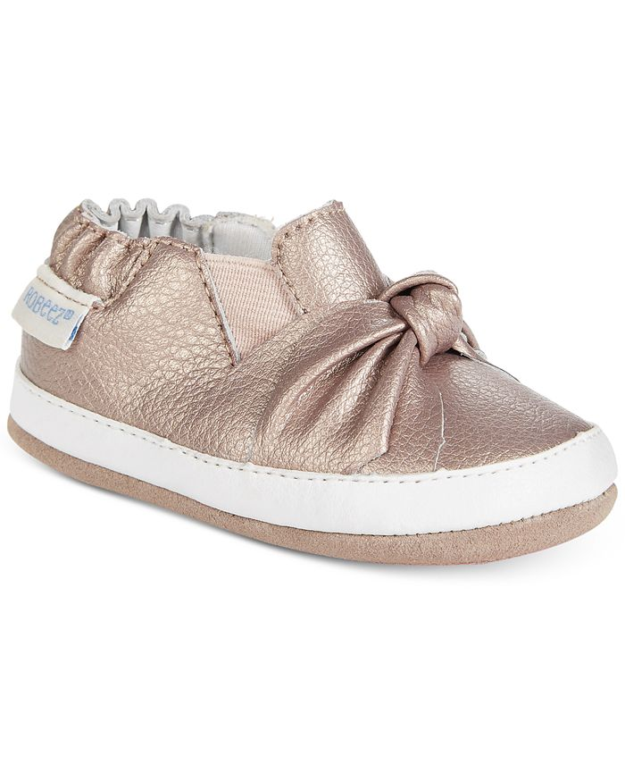 Robeez - Bella's Bow Shoes, Baby Girls (0-4) & Toddler Girls (4.5-10.5)