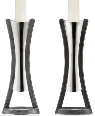 Nambe Set of 2 Anvil Candlesticks