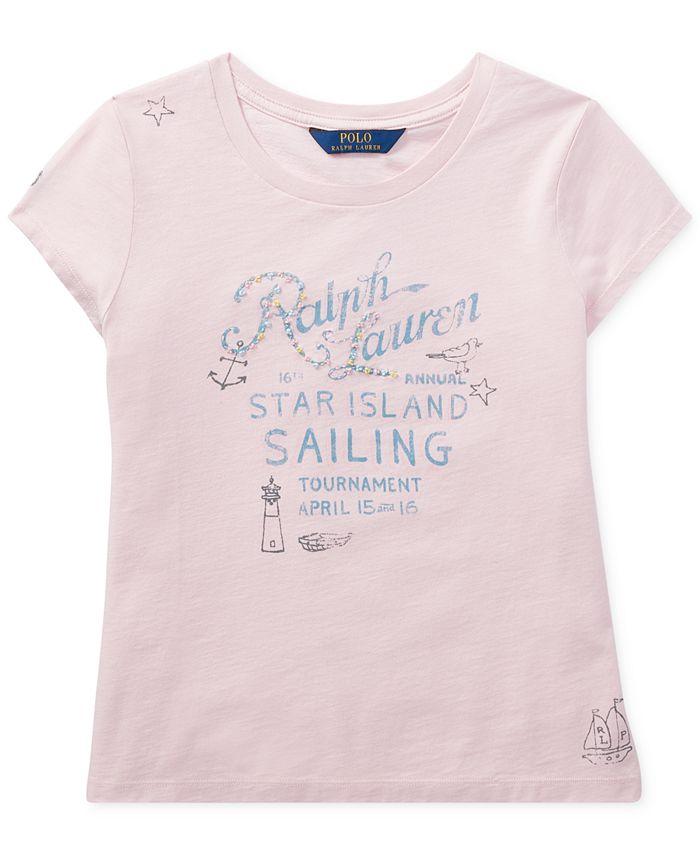 Polo Ralph Lauren - Graphic Cotton T-Shirt, Big Girls (7-16)