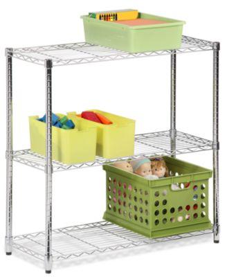 """Honey Can Do Storage Shelf, 48"""" Chrome 3 Tier"""