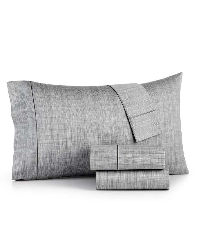 Hotel Collection - Modern Grid Cotton 525-Thread Count 4-Pc. California King Sheet Set
