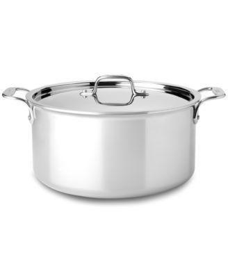 All-Clad Stainless Steel Covered Stockpot, 8 Qt.