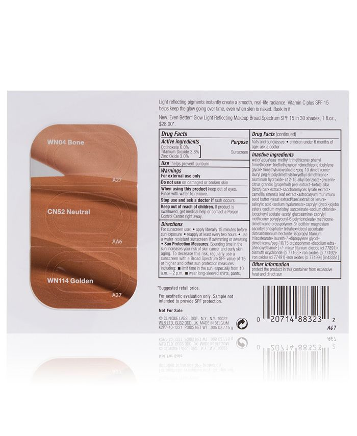 Clinique - Receive a FREE Even Better Glow SPF 15 Makeup Tri-Shade with $45  purchase!