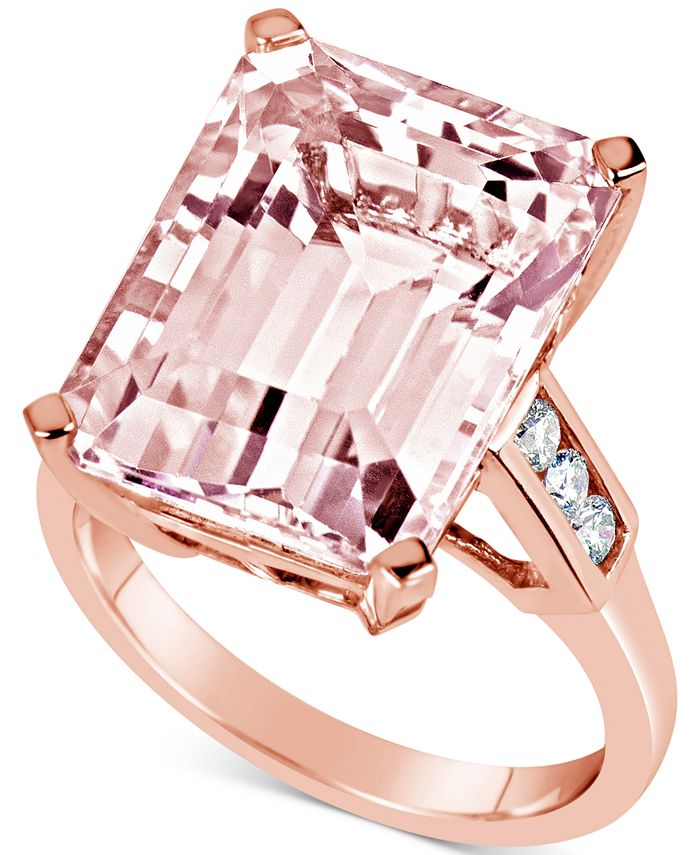 Macy's - Morganite (13 ct. t.w.) & Diamond (1/5 ct. t.w.) Ring in 14k Rose Gold