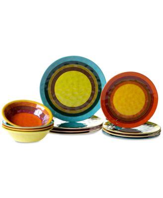 Sedona Melamine 12-Pc. Dinnerware Set