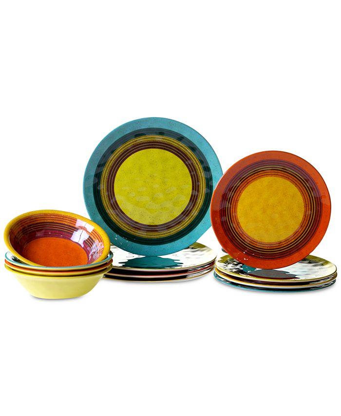 Certified International - Sedona 12-Pc. Melamine Dinnerware Set