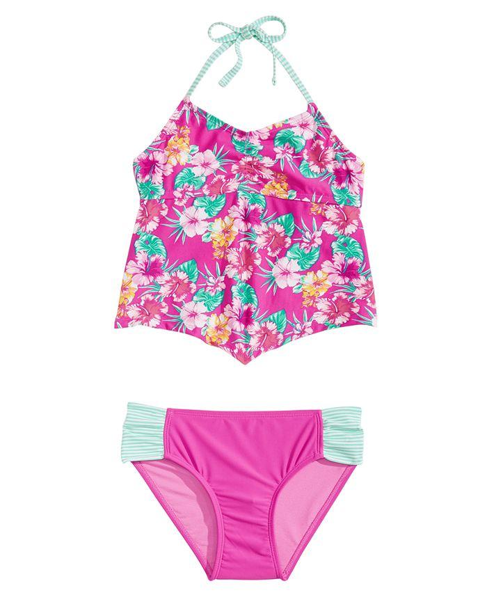 Summer Crush - 2-Pc. Floral-Print Tankini, Big Girls