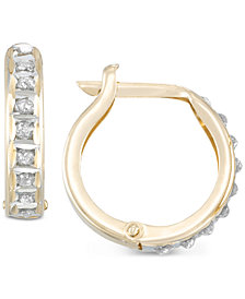 Diamond Fascination™ Diamond Accent Hoop Earrings in 10k Gold