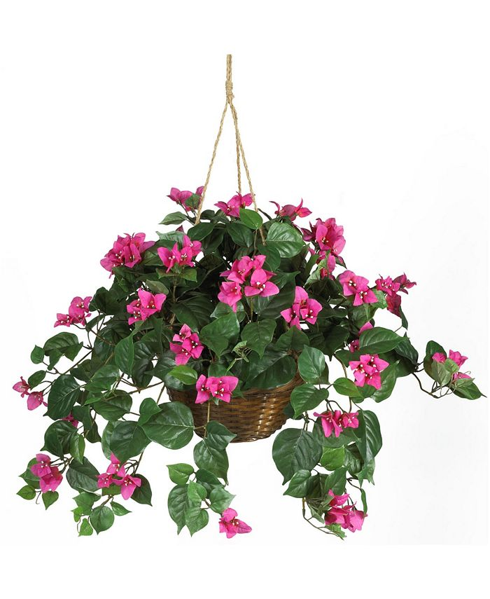 Nearly Natural - Bougainvillea Hanging Basket