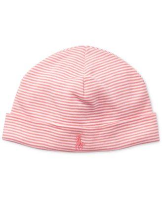 Ralph Lauren Baby Girls Striped Cotton Hat