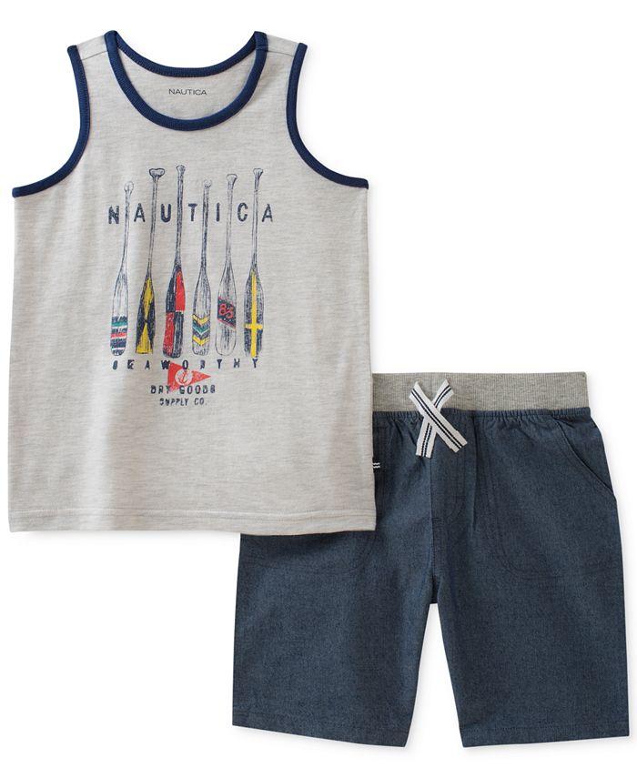 Nautica - 2-Pc. Graphic-Print Tank Top & Shorts Set, Baby Boys