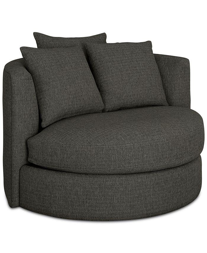 Martha Stewart Collection - Mylie Fabric Swivel Chair