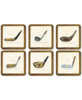 Pimpernel A History of Golf Set of 6 Coasters
