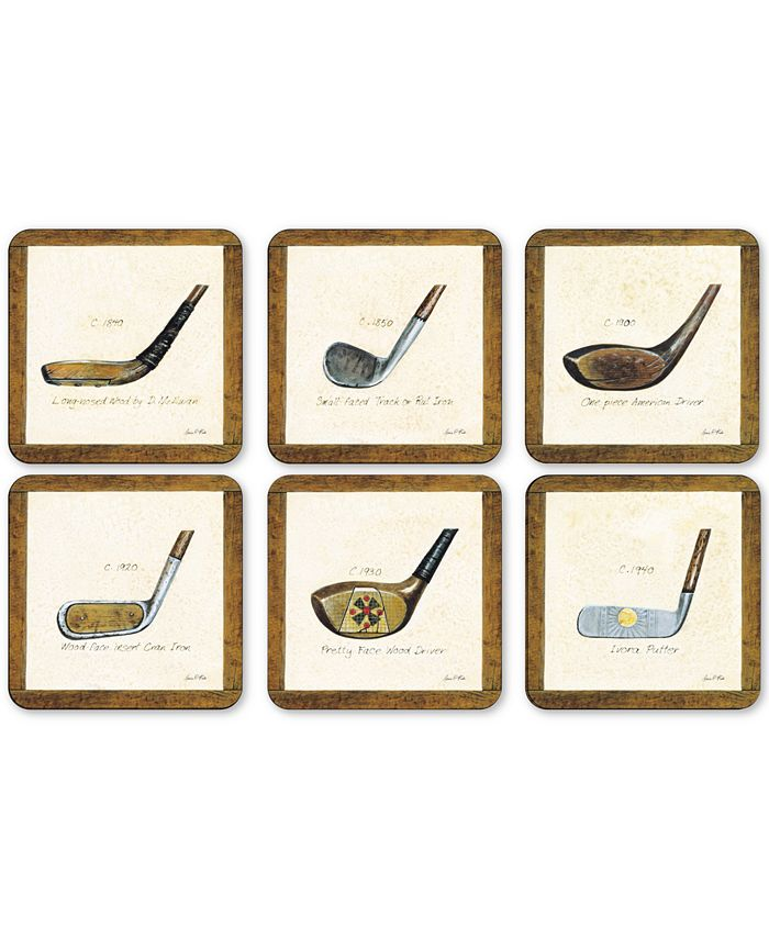 Portmeirion - A History of Golf Set of 6 Coasters