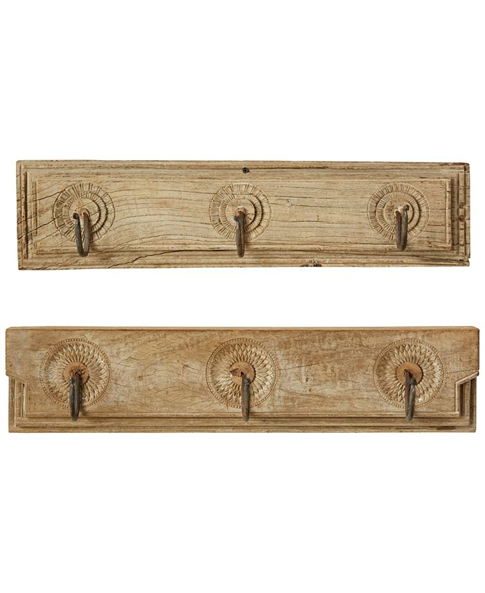3R Studio - Wooden Coat-Hook Hanging, Set of 2