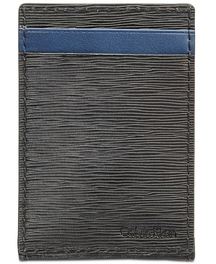 Calvin Klein - Men's Textured Leather Card Case