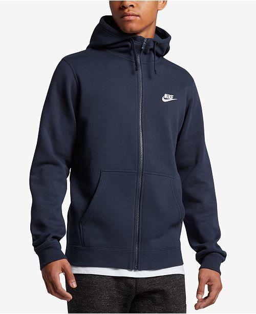 Nike Men's Fleece Zip Hoodie & Reviews - Hoodies ...