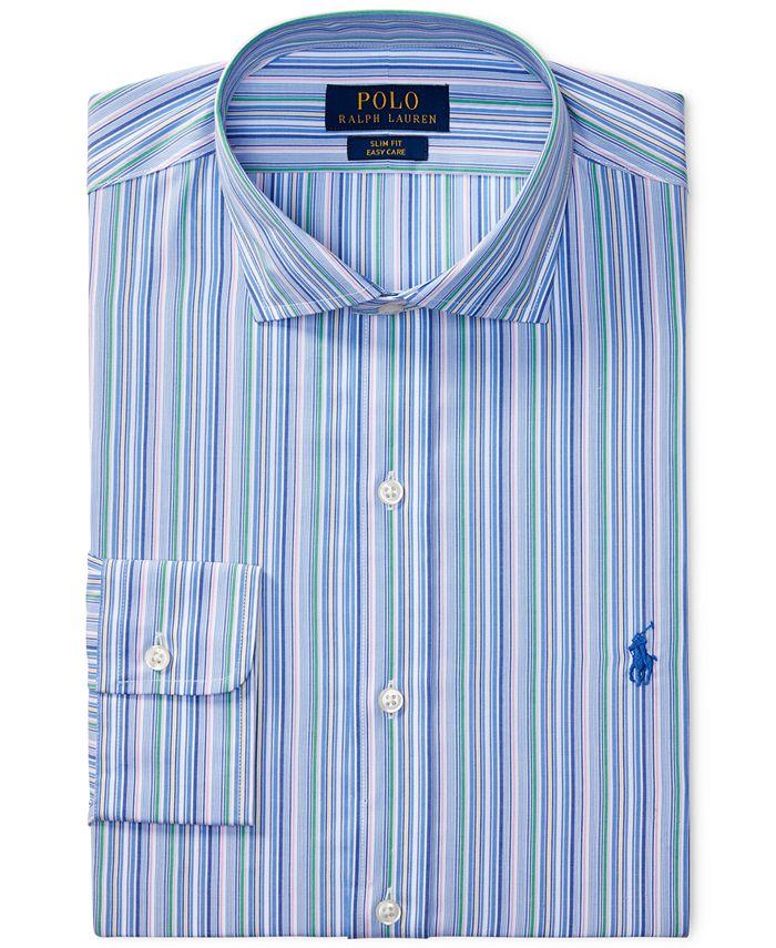 Polo Ralph Lauren Men's Classic/Regular Fit Easy-Care Striped ...