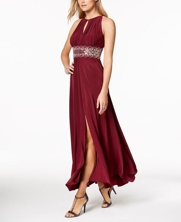 R & M Richards - Dress, Sleeveless Beaded Evening Gown