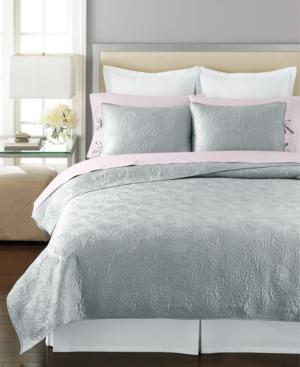 Martha Stewart Collection Bedding, Carved Dahlia Quilted Standard Sham Bedding