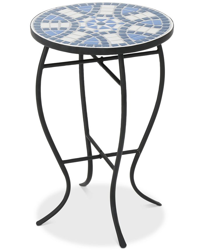 Noble House - Clayton Round Side Table, Quick Ship