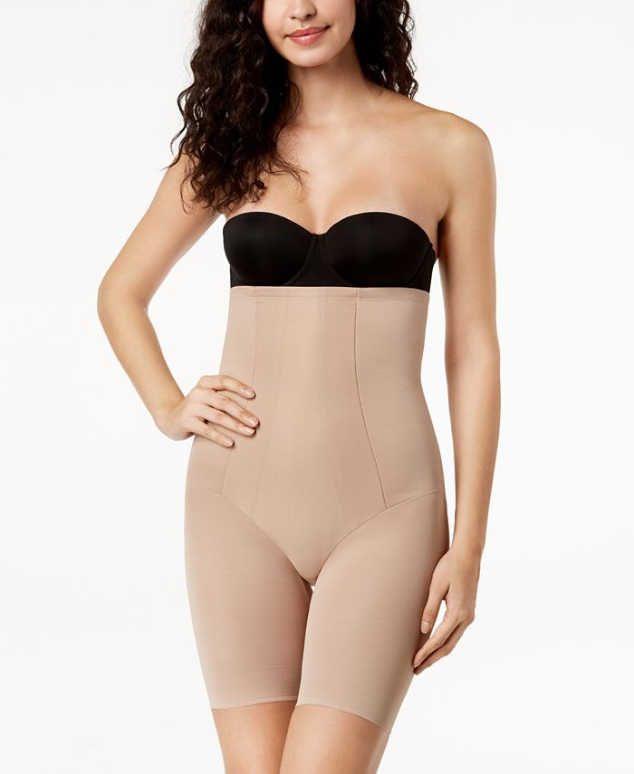 Miraclesuit Women S Extra Firm Tummy Control Shape With An Edge High Waist Thigh Slimmer 2709 Reviews Shapewear Women Macy S