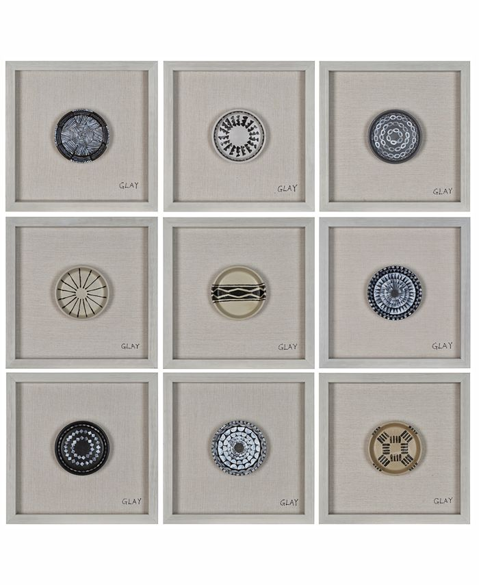 Furniture - Buttons 9-Pc. Wall Décor, Quick Ship