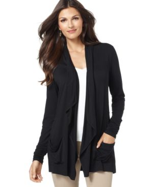Alfani Long Sleeve Draped Cardigan
