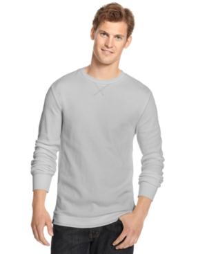 Club Room Shirt, Long Sleeve Solid Crew Thermal