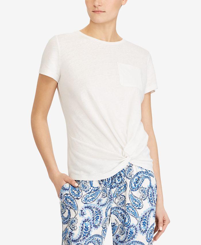 Lauren Ralph Lauren - Petite Twist-Knot T-Shirt
