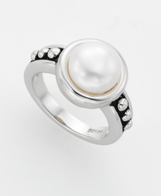 Fresh by Honora Sterling Silver White Cultured Freshwater Pearl Ring