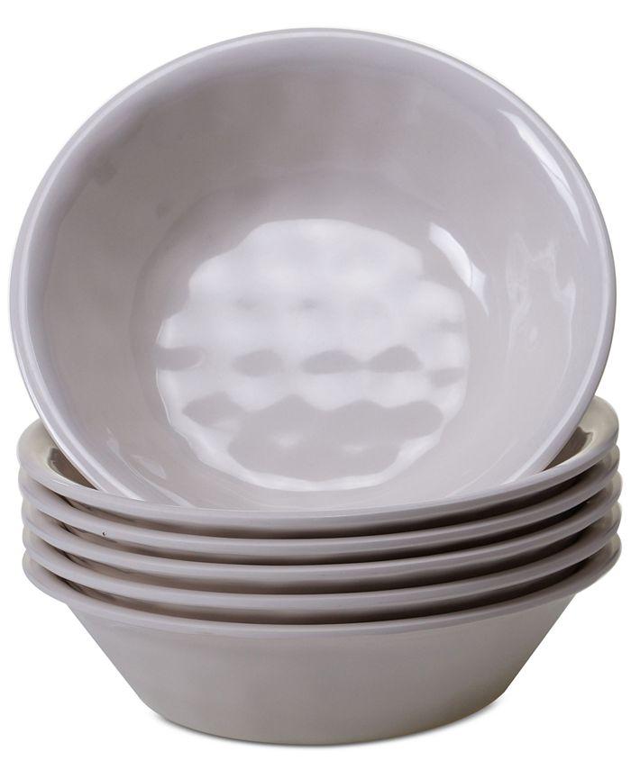 Certified International - 6-Pc. Cream Melamine All-Purpose Bowl Set