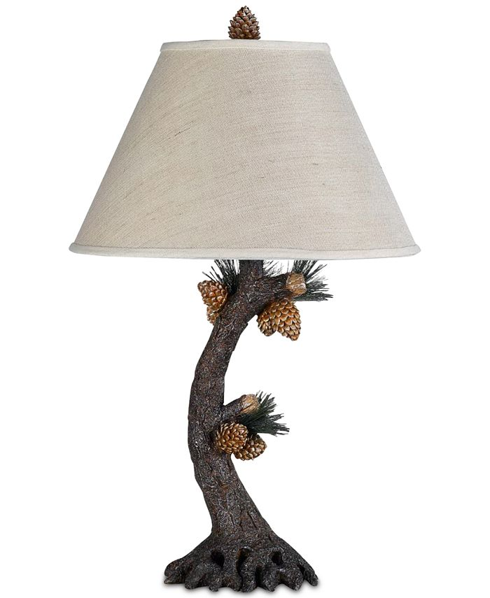 Cal Lighting - 150W 3-Way Pinecone Table Lamp