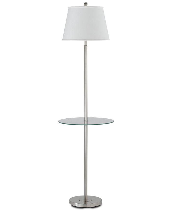 Cal Lighting - 150W 3-Way Andros Floor Lamp with Glass Tray