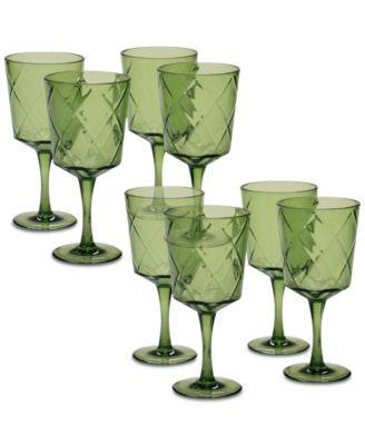 Green Diamond Acrylic 8-Pc. All-Purpose Goblet Set