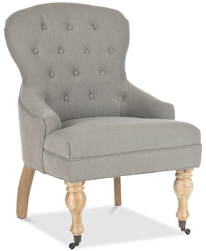 Safavieh - Alyna Arm Chair, Quick Ship