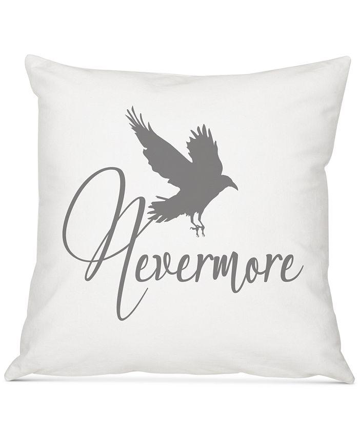 "Cathy's Concepts - Nevermore Raven 16"" Square Decorative Pillow"