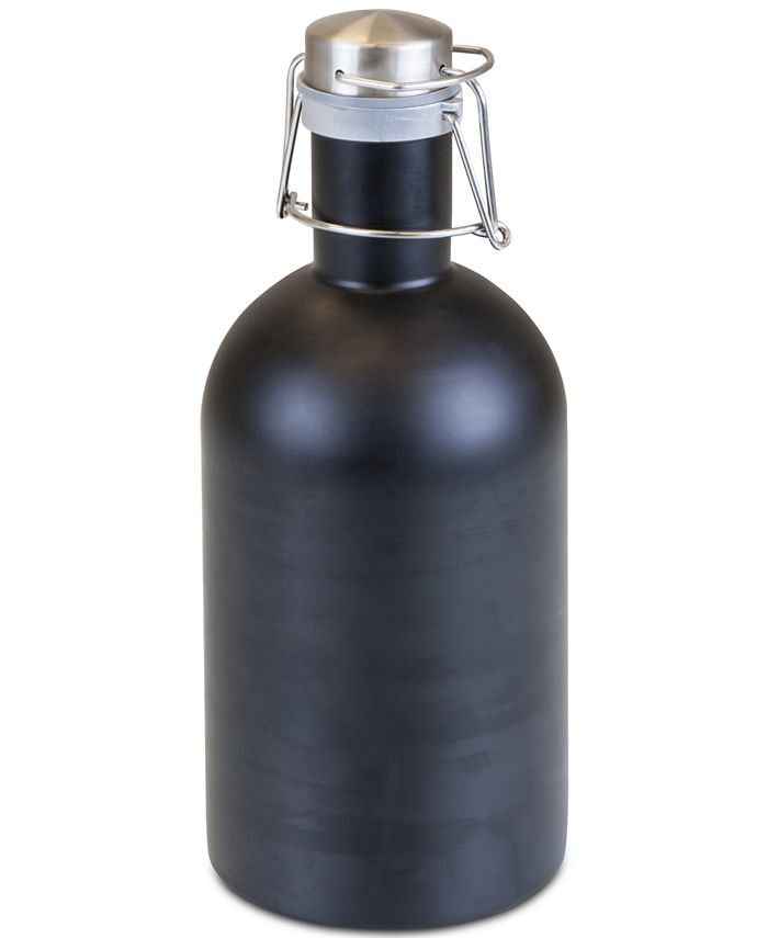 Picnic Time - Matte Black Stainless Steel 64-Oz. Growler