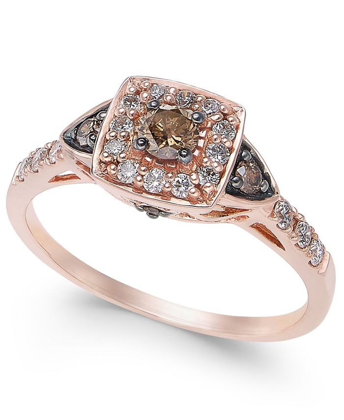 Le Vian - Chocolate and White Diamond Ring (3/8 ct. t.w.) in 14k Rose, Yellow or White Gold