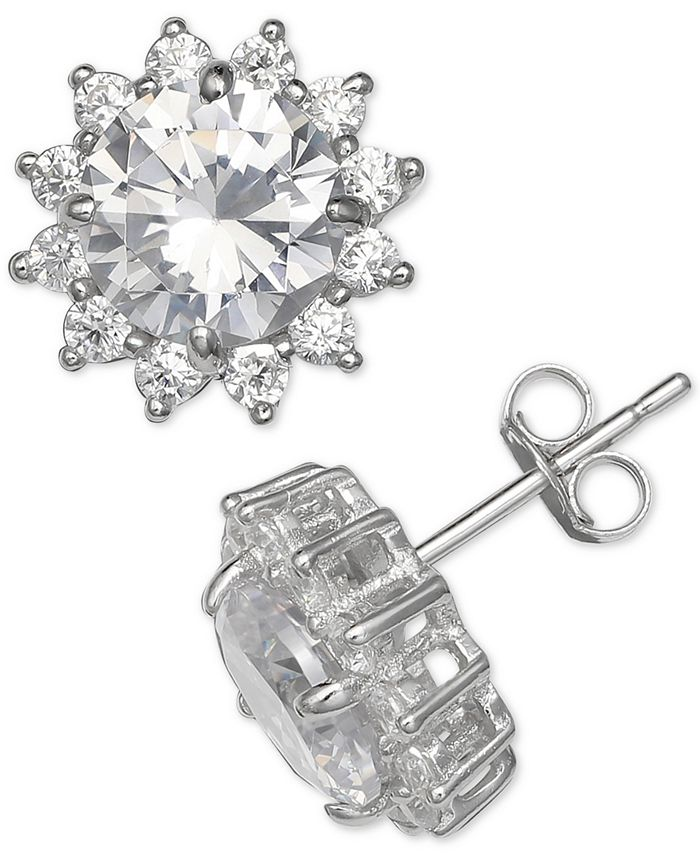 Giani Bernini - Cubic Zirconia Starburst Stud Earrings in Sterling Silver,