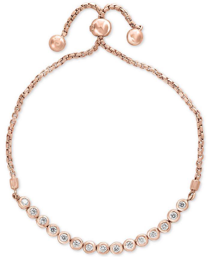 EFFY Collection - Diamond Bezel Slider Bracelet (5/8 ct. t.w.) in 14k Rose Gold