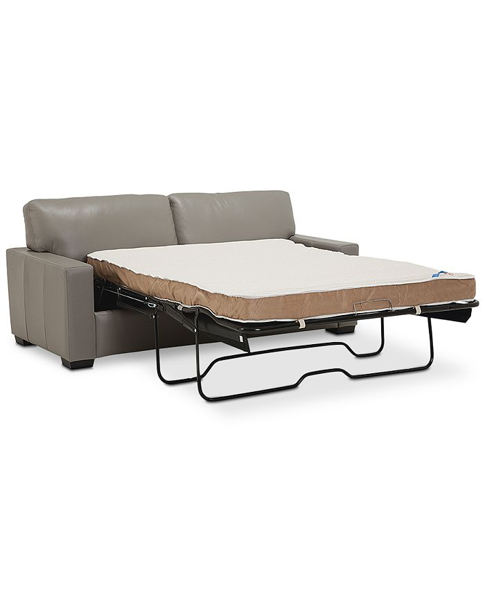 "Furniture - Ennia 75"" Full Leather Sleeper"