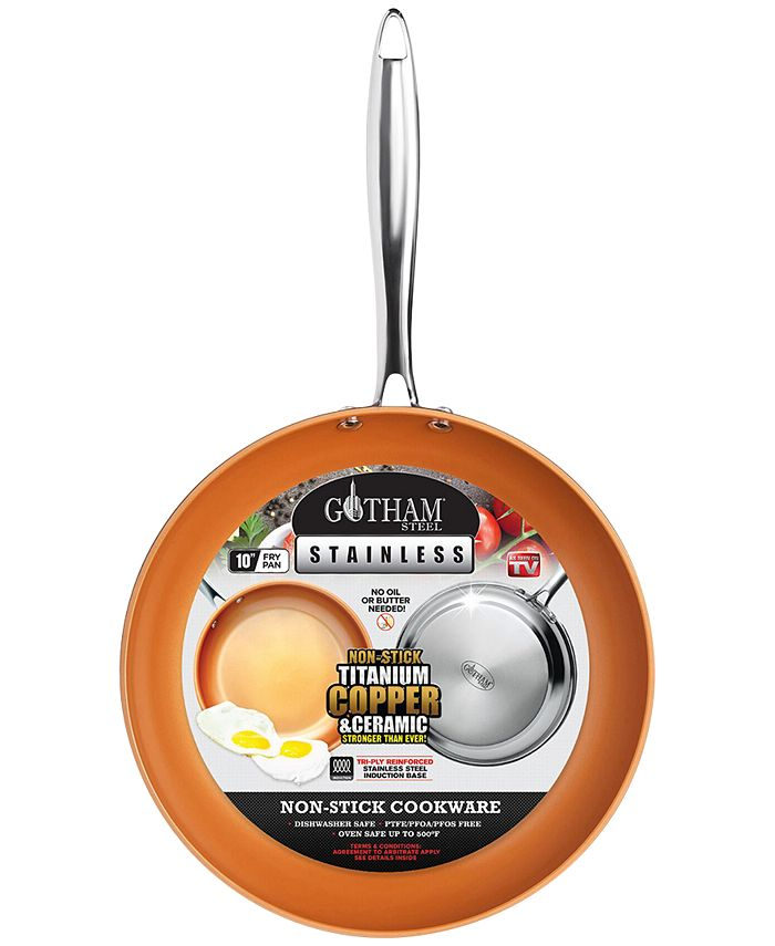 "Gotham Steel - Stainless Steel 10"" Fry Pan"