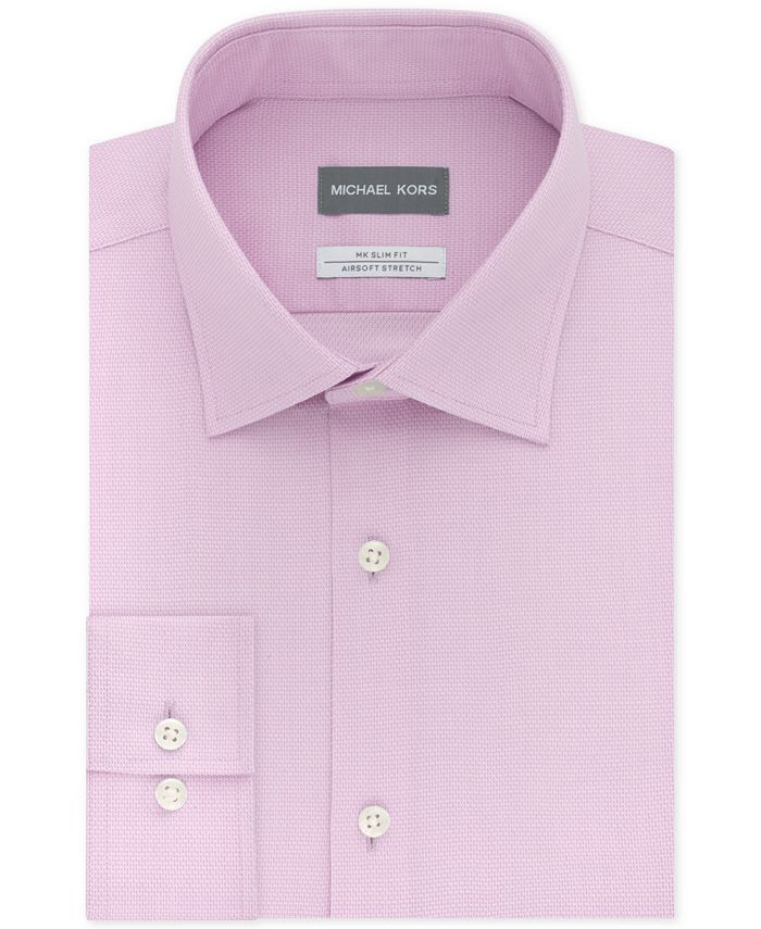 Michael Kors - Men's Slim-Fit Non-Iron Airsoft Stretch Performance Solid Dress Shirt