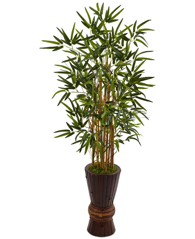 Nearly Natural 4.5' Bamboo Artificial Tree in Bamboo Planter