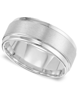 Triton Men's White Tungsten Carbide Ring, Comfort Fit Wedding Band (9mm)