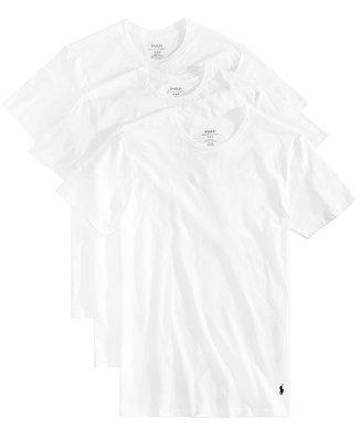Polo Ralph Lauren Men's Undershirt, Slim Fit Classic Cotton Crews 3 Pack & Reviews - Underwear & Socks - Men - Macy's